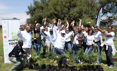 Activate Architects tree planting in Thembisa